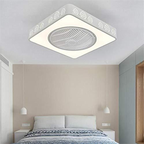Lámpara De Techo Con Atenuación LED Cuadrada Lámpara De Ventilador Eléctrico Lámpara...