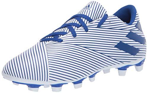 Adidas mens 19.4 NEMEZIZ 19 4 FxG, ftwr white/team royal blue/core black, 9.5 US