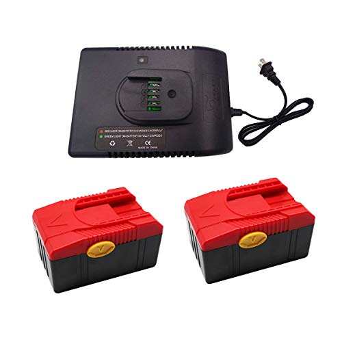 FengWings 2Pcs 18V 4000mAh CTB6187 Li-ion Replace Battery + CTC620 Charger Kit for Snap On CTB6185 CTB4187 CTB4185