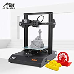 【Great Starter 3D Printer & High Precision】Super easy to setup since it comes almost entirely preassembled, you can start printing immediately. A rigid metal frame can reduce body shaking during printing and improve print quality. And the printer's n...