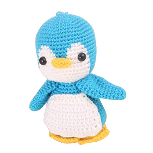 Baosity Handmade DIY Penguin Doll Toy Crochet Kit Amigurumi Kit for Kids Beginners Crafts