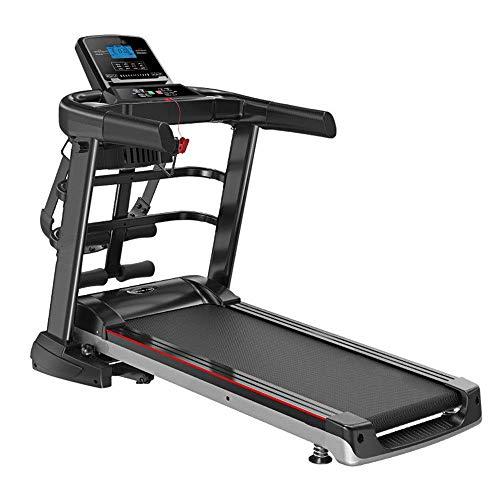 Zhihao Laufband Intelligent Digital Folding Treadmill - Elektro-Folding Trainingsmaschine Erweiterte Sicherheitshandlauf Startseite Laufband (Farbe: Schwarz, Größe: 1300x540x1210mm)