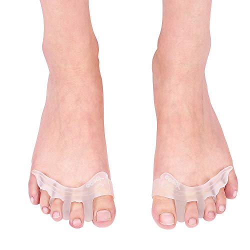 Separadores y protectores de dedos de los pies, separadores de dedos de gel triples para dedos superpuestos, dedos meñiques rizados que separan y protegen los separadores de dedos de los pies Ensancha