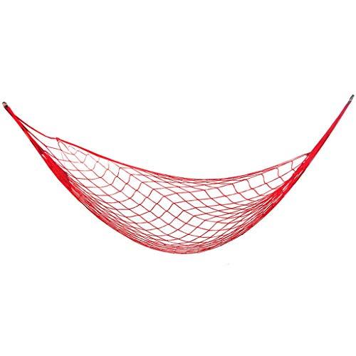 ZZL Amaca Camping Hamaca Meshy Cuerda Hamacas De Dormir Cama Cama Colgando Nylon para Jardín Pista Al Aire Libre Durable (Color : Red)