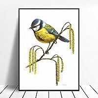 Carl Brenders動物絵画インテリア版画キャンバスホーム壁アートパネルワイルド動物画像リビング部屋真の愛の環境Carl Brendersポスター50x75cmいいえフレーム