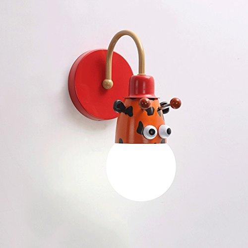 Good thing Applique Lampe murale pour enfants Linge de lit de lit Creative Cartoon Chambre pour enfants Light Boy Girl Chambre Light Animal Princess Light (Couleur : C)