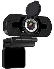 1080P Full HD-webcam met webcamafdekking, computerlaptopcamera voor conferenties en videogesprekken, Pro Stream-webcam met plug-and-play videogesprekken, ingebouwde microfoon