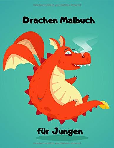 Drachen Malbuch für Jungen: Einseitig 90 einzigartige Drachen Ausmalbilder für Kinder. Lernen Tier Spaß Fakten Buchgröße 8,5 x 11 Zoll (Drachen Malbuch Kinder Band 7)