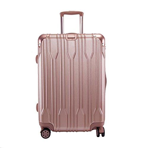 [BB-Monsters] ビービーモンスターズ スーツケース 4サイズ ファスナータイプ ダイヤル式 A8960 (大型、L、, ピンクゴールド)