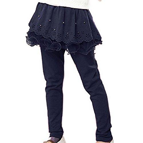 Junkai junkai Baby Mädchen Strumpfhose - Herbst Frühling Warm Leggings mit Minirock Baumwolle Hose für Neugeborenen Kinder Mädchen
