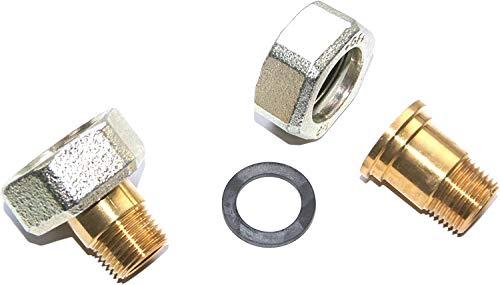 Wilo 4092743 Verschraubung aus Messing R 1/2 Zoll a/d 15 ixG 1 i, VE -1 Satz
