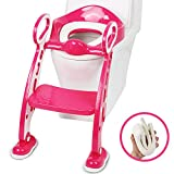 Baistom Potty Training Seat with Ladder, Toilet Step Stool