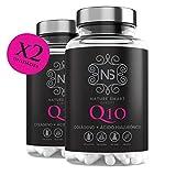 Colágeno + Ácido Hialurónico + Coencima Q10, Nature Smart | Vitamina C |Aporta Firmeza | Piel Radiante | 180 Cápsulas | Alérgenos : Contiene...