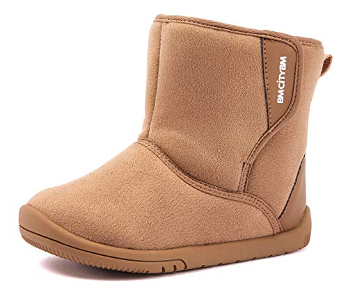 Baby Boys Girls Snow Boots Warm Winter Non Skid Infant Prewalker Shoes 6 9 12 16 18 24 Months Camel Size 5