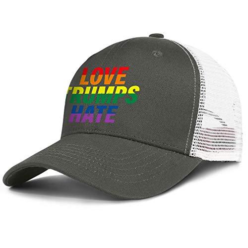 LCGUYJB Hate Gay & Lesbian Pride Anti Trump Unisex Visor Fashion Hat