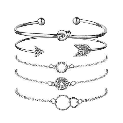 shuxuanltd Braclets Ladies Bangles Friendship Bracelet Cheap Bracelets for Women Sister Bracelet Friendship Bracelets for Women Friendship Bracelets Silver