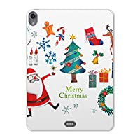 igcase iPad Pro 11inch 第3世代 アイパッドプロ 対応11インチ タブレット ケース タブレット カバー TPU ソフトケース A1980 A2013 A1934 A1979 015610 クリスマス クリスマスツリー サンタ
