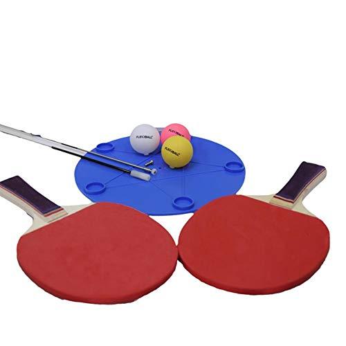 tangyuandain Tischtennis-Trainingsgerät Rebound, Tischtennis-Rückpralltrainer, Fester Schaft, schnelle Rückbindung, für Ping-Pong-Ball-Training, inkl. 3 Bälle