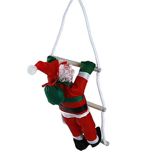 GGQT Escalera de escalada Santa, Navidad escalada Santa Claus, Figura de Navidad, decoración para interiores, exteriores, bonito regalo