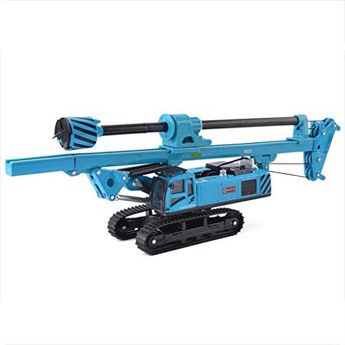 Modelo de coche 1:64 de perforación rotatoria de la máquina de simulación de joyería de la aleación de juguetes de fundición a presión colección de coches de Ingeniería joyería 29.5x5x9.8CM (Color: Az