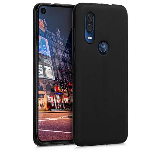 Preisvergleich Produktbild kwmobile Hülle kompatibel mit Motorola One Vision - Handyhülle - Handy Case in Schwarz matt