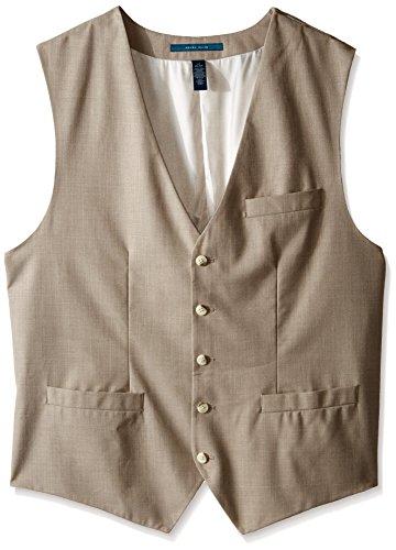 Perry Ellis Men's Big-Tall Big and Tall Solid Texture Suit Vest, Natural Linen, 3X