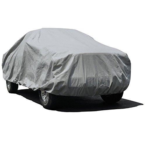 "Budge Lite Truck Cover Indoor, Dustproof, UV Resistant Truck Cover Fits Full Size Trucks up to 222"" L x 60"" W x 56"", Gray"