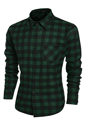 Burlady Herren Karohemd Kariert Hemd Slim Fit Trachtenhemd Super Modern super Qualität fürs Oktoberfest geeignet