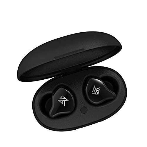 Linsoul KZ S1D Dynamic Driver TWS Bluetooth 5.0 Wireless Earphones with Smart Touch, Noise Cancelling(Black)