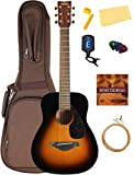 Yamaha JR1 Junior-Size 3/4-Size Acoustic Guitar Bundle with Gig Bag, Tuner, Strap, Strings, Picks, Instructional DVD, and Austin Bazaar Polishing Cloth