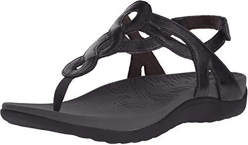 Rockport Cobb Hill Women's Ramona-CH Flat Sandal, Black Patent, 10 W US