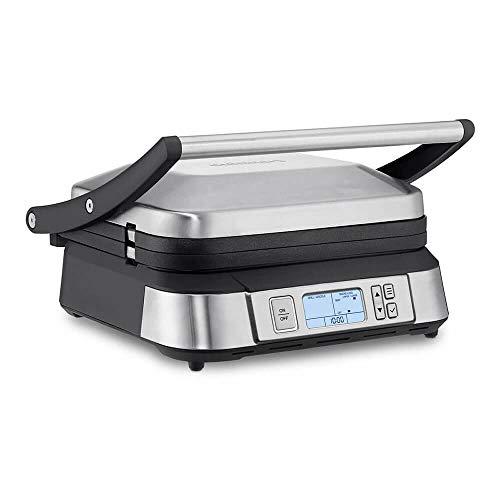 Cuisinart GR-6S Contact Smoke-Less Mode Griddler, 11.5'(L) x 10.5'(W) x 7.0'(H), Silver