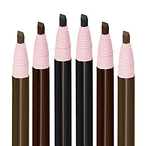 Vococal - 6 Pezzi Matita Microblading, Matita Sopracciglia, penna per sopracciglia, Impermeabile, Sopracciglia Perfette, per le Sopracciglia Acconciatura Naturale