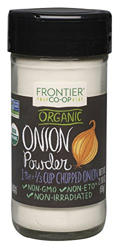 Frontier Organic Spices, Onion Powders, 2.1 Ounce (Pack of 4)