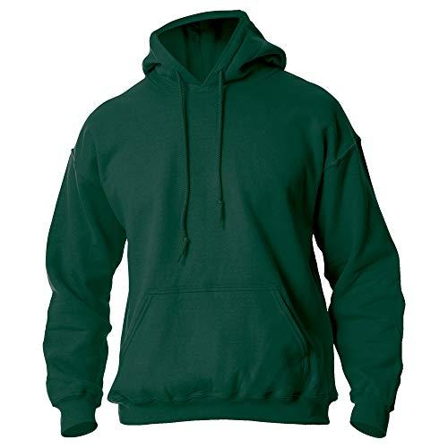 Gildan Men's Fleece Hooded Sweatshirt, Style G18500, Forest Green, 2X-Large