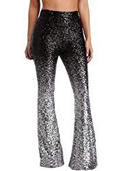 Silver-48 Sequin Bell Bottoms Trousers