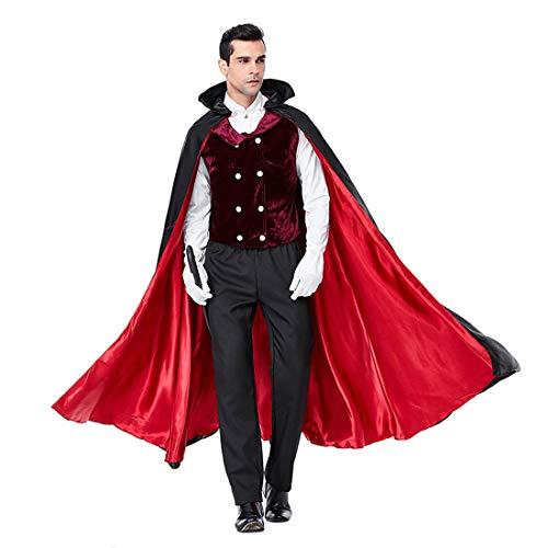 HOOLAZA Multicolor Herren Vampir Kostüm Classic Vampire Dracula Royal 5 Stücke Cosplay Kostüm Set