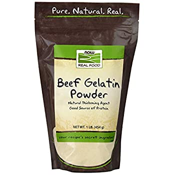 NOW Natural Foods Beef Gelatin Powder Natural Thickening Agent Source of Protein 1-Pound  Packaging May Vary