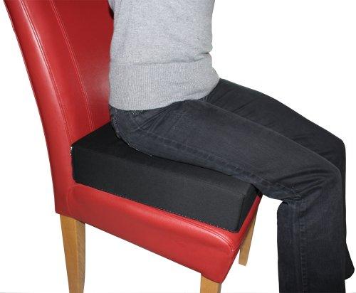 LUplus Orthopädische Sitzerhöhung 40x40x Höhe 10 cm mit Bezug 100{f7cd81e4ec96e933592a1060ae0ec2150c6c844d0b74e1876cdfdcd2720111b4} Baumwolle, schwarz