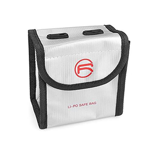 Montloxs Batería de lipo a Prueba de Fuego a Prueba de explosiones Bolsa Segura de protección Bolsa de Carga de Almacenamiento Bolsa Protectora con indicador de batería Manual para 2 baterías