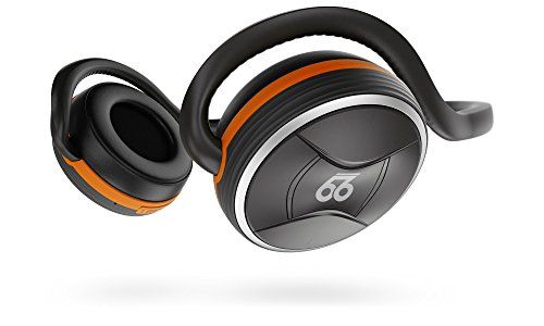 66 Audio BTS Pro Bluetooth 4.2 Wireless Sports Headphones w/ MotionControl iOS App (Lava Orange)