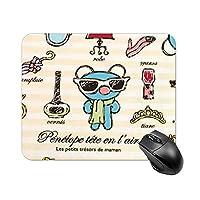 ペネロペ マウスパッド 小型 ラバー 便利 防水 耐久性 DANESI 滑り止め オフィス/ゲーム用 おしゃれ 可愛い キャラクター