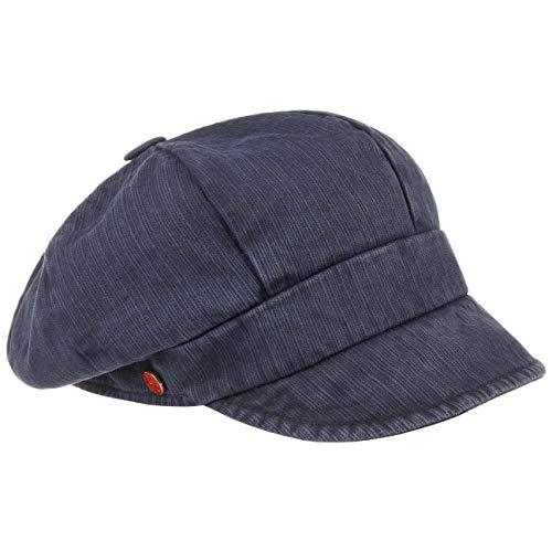 Mayser Alexa Ballonmütze Damencap Baumwollcap Sonnencap Baker-Boy-Mütze (One Size - dunkelblau)