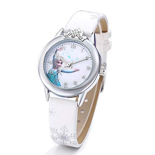 Montre Blanche La Reine de Neiges Elsa et Anna Frozen (Blanc)