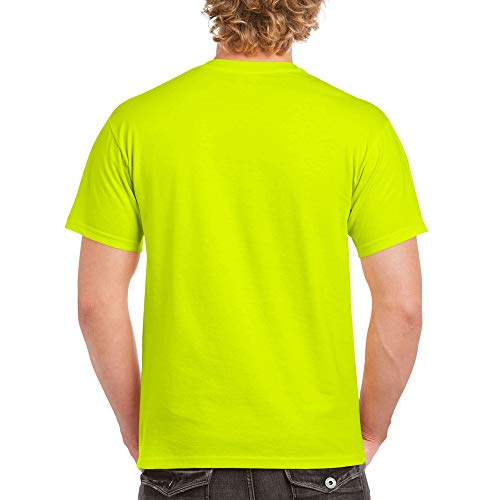 Gildan Men's Heavy Cotton Adult T-Shirt, 2-Pack, Safety Green, X-Large