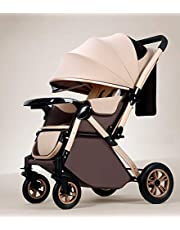 StarAndDaisy Ultra Multi-Purpose, Multi-Adjustment Stroller pram Travel Friendly, Broad seat & Bed Buggy for 0-36 Months (Brown)
