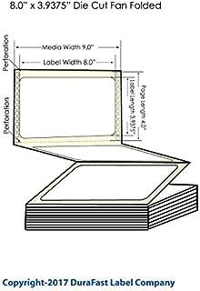 Durafast GP-C831 Chemical 8 x 3.9375 Fan Folded Labels for Epson C-831, 1800 Labels Per Carton