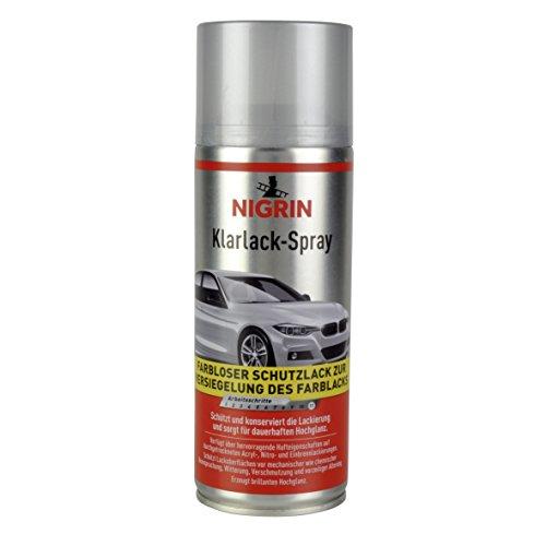 Nigrin 74116 Klarlack, glänzender Autolack, 400 ml, schütz Felgen und Karosserie vor Rost, schnell trocknend