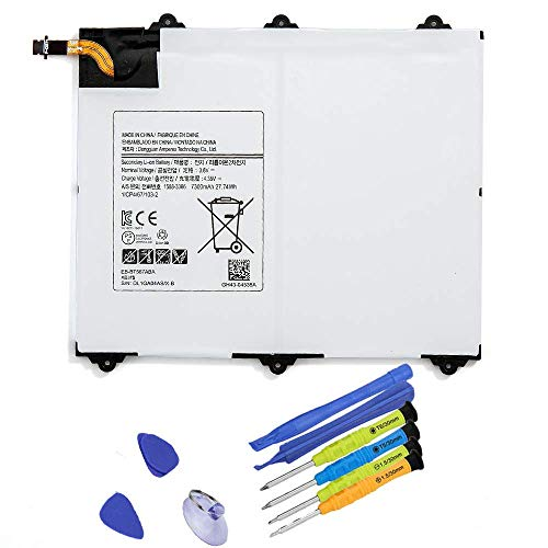 BOWEIRUI EB-BT567ABA (3.8V 7300mAh 27.74Wh) Tablet Battery Replacement for Samsung Galaxy Tab E 9.6 XLTE SM-T567 SM-T567V SM-T560NU Series Notebook EB-BT567ABE with Tools