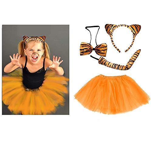 Unbekannt Tiger Kinder oder Damen Kostüm - Tiger Costume Set - vertrieb durch ABAV (Komplett Set Mädchen)